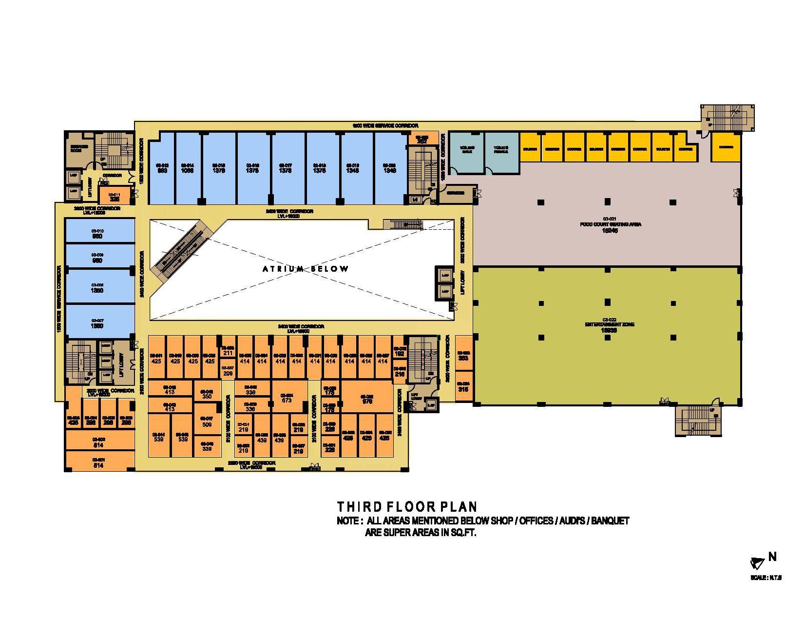 ithum galleria third floor plan